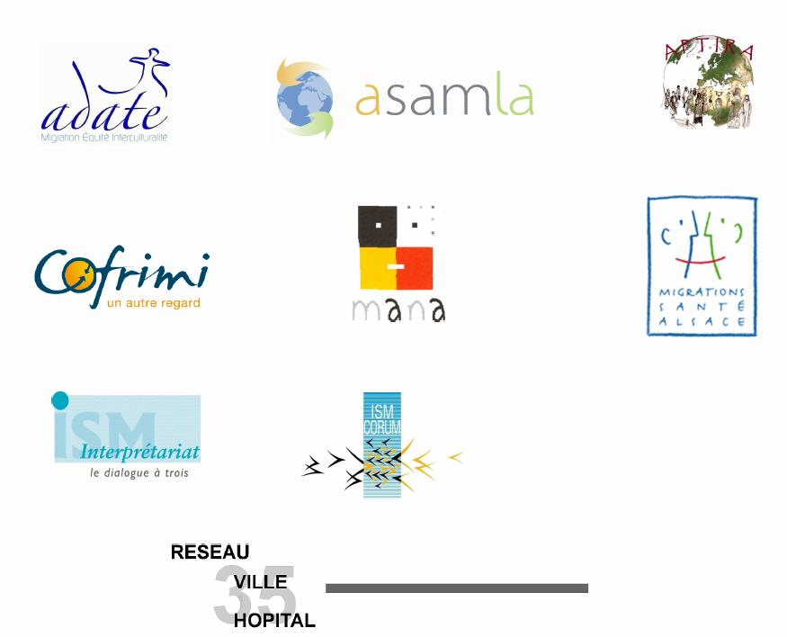 logos associations signatires de la charte